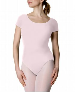 Women`s Short Sleeve Nylon Leotard