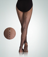 A64 Fishnet w/Rhinestone Backseam