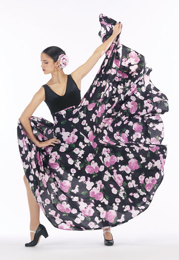 FL-900 BO Floral Flamenco Dress