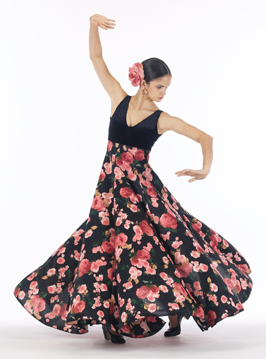 FL-900 Floral Velvet Flamenco Dress